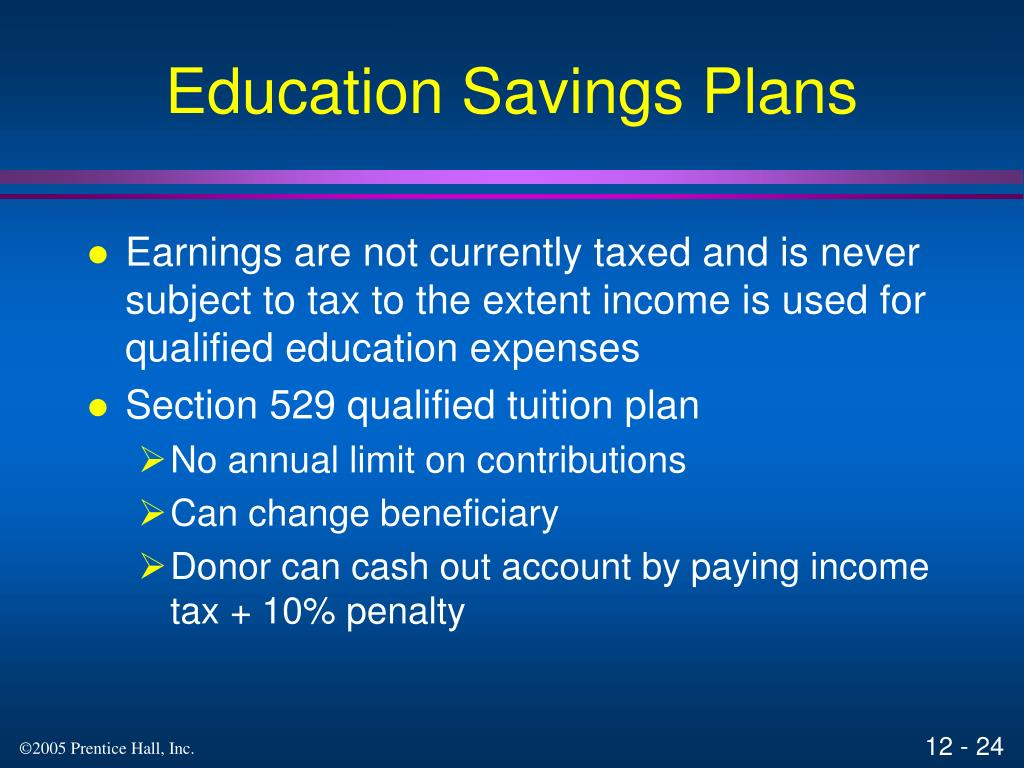 Education Savings Plans