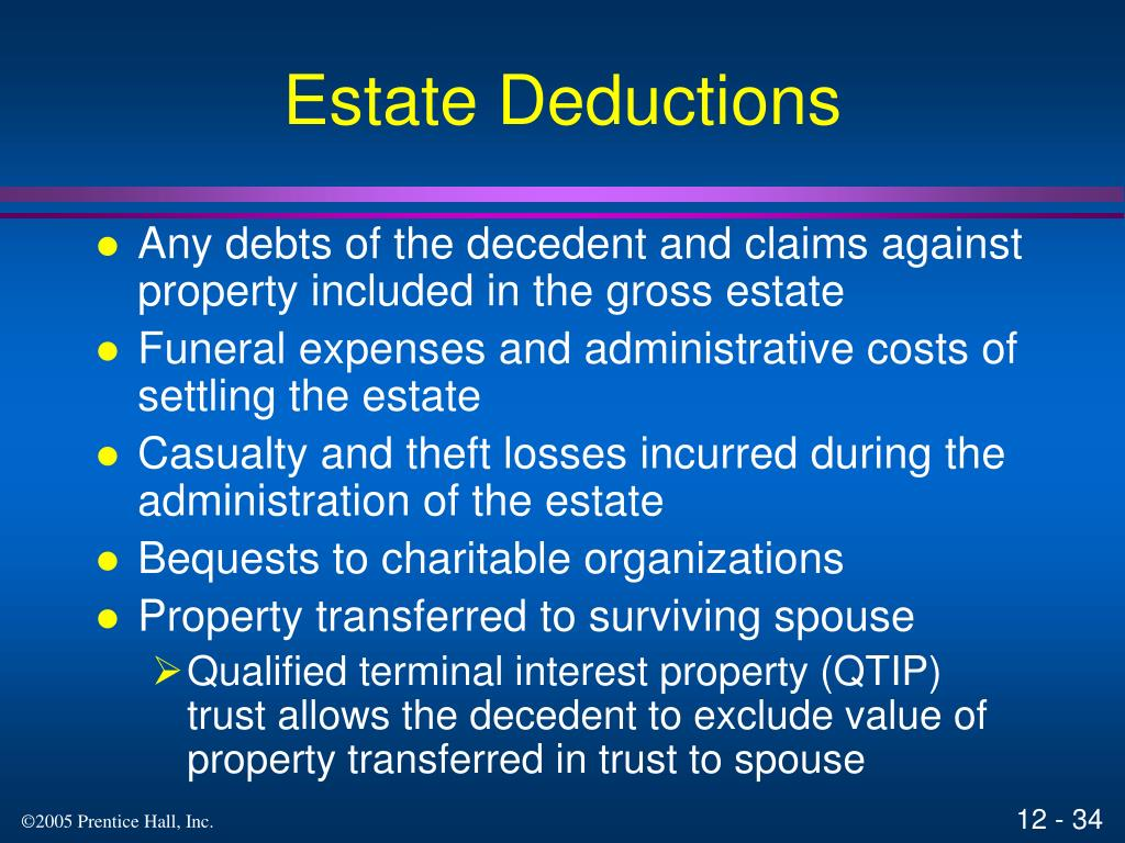 Estate Deductions