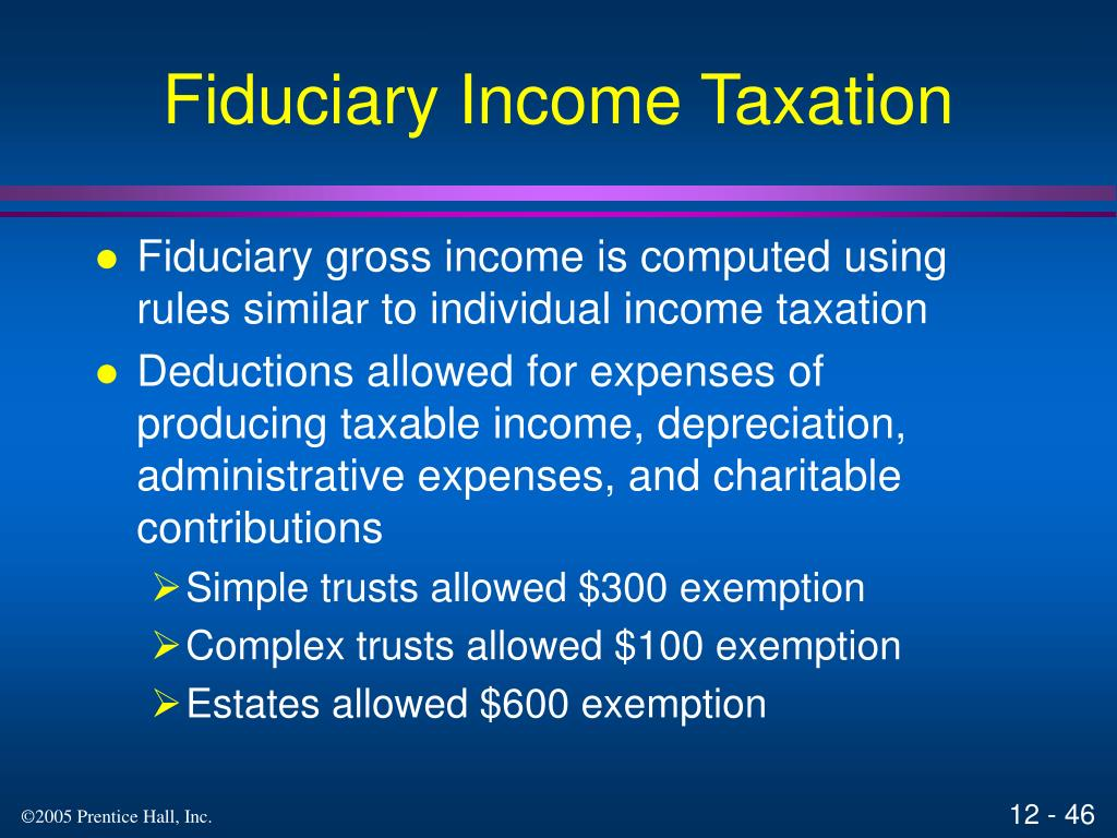 Fiduciary Income Taxation