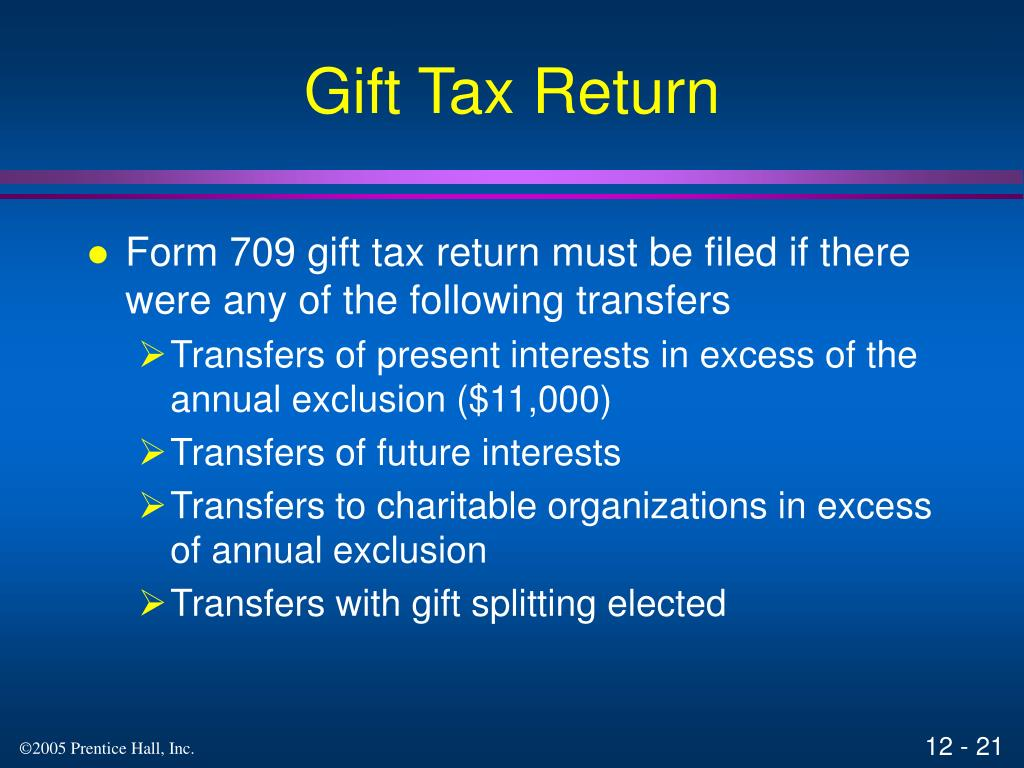 Gift Tax Return