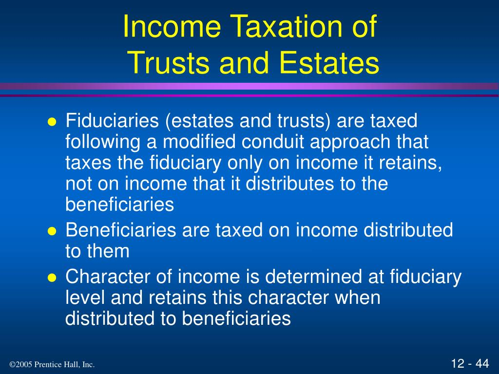 Income Taxation of