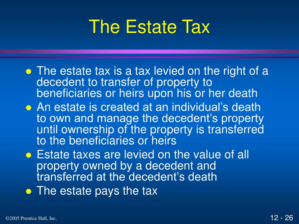 The Estate Tax