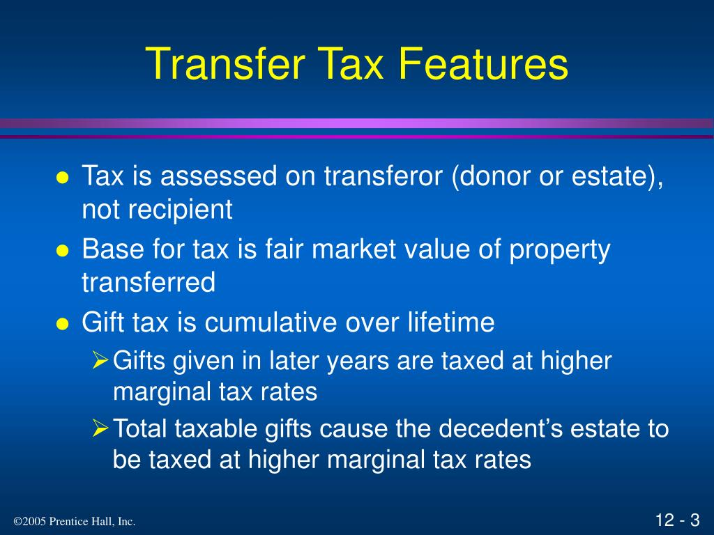 Transfer Tax Features