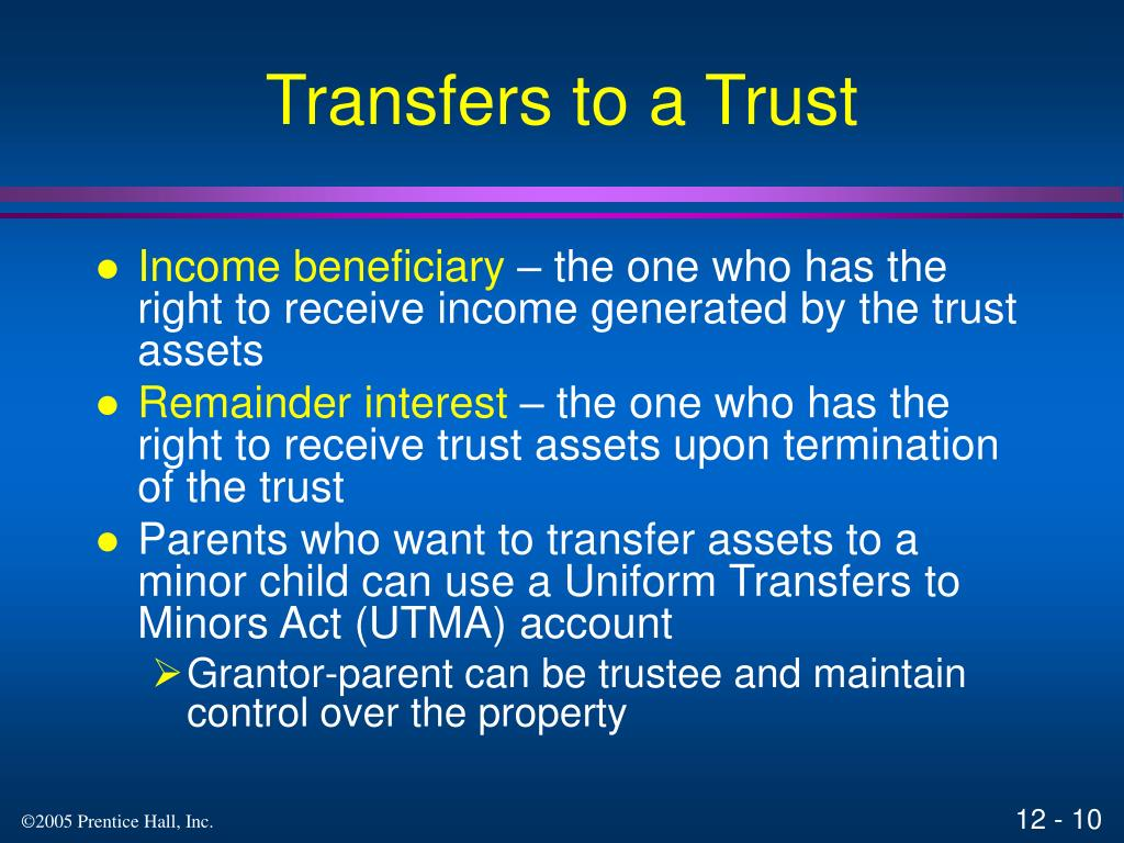 Transfers to a Trust
