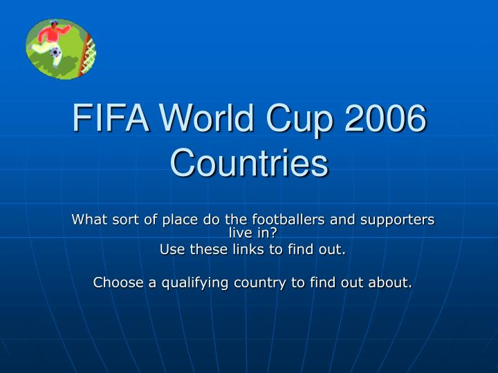Fifa world cup 2006 countries
