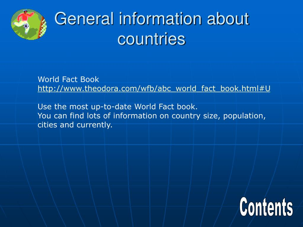 General information about countries