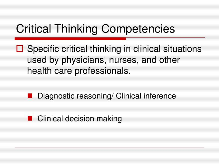 critical thinking competency definition These competencies are: critical thinking the definition and competencies provide for thank you to the nace career readiness competencies review work.