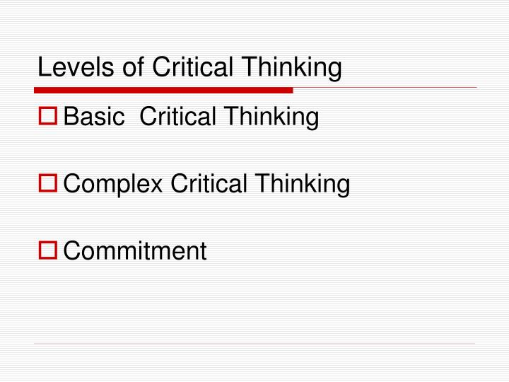 levels of critical thinking