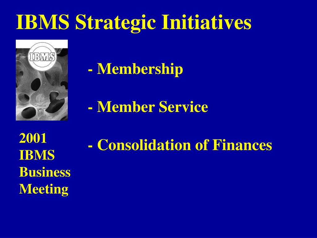 IBMS Strategic Initiatives