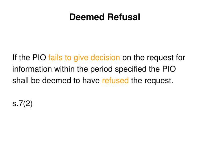 Deemed Refusal
