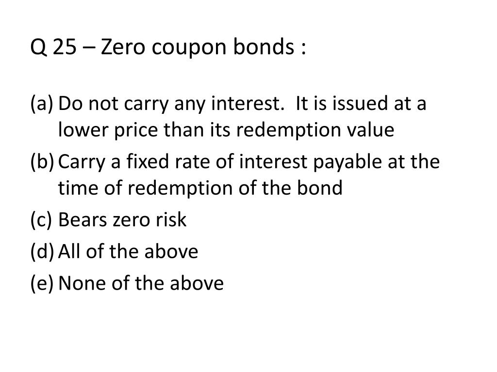 zero coupon bonds and rising interest rates