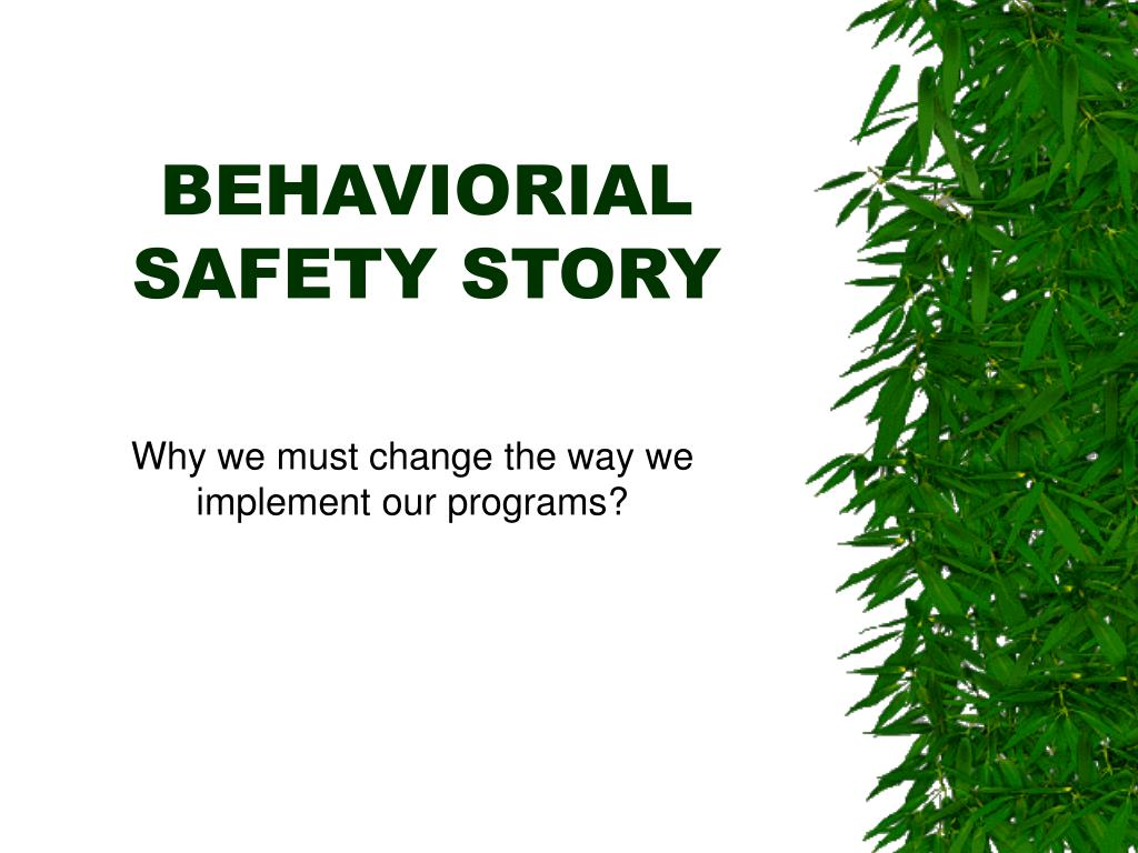 behaviorial safety story