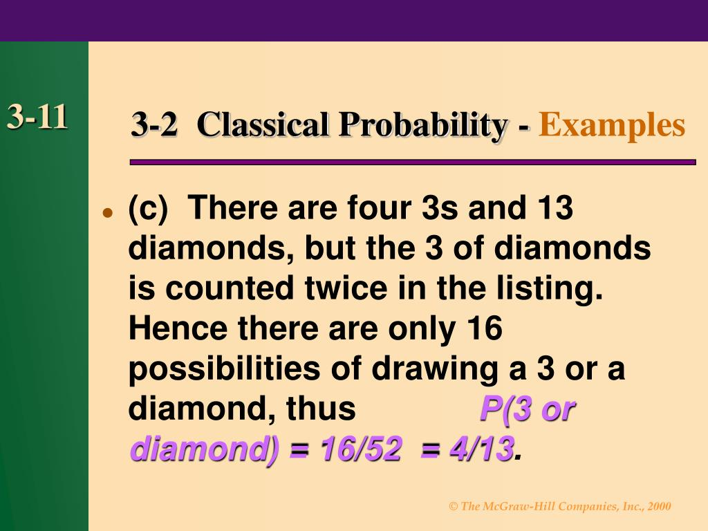 3-2  Classical Probability -