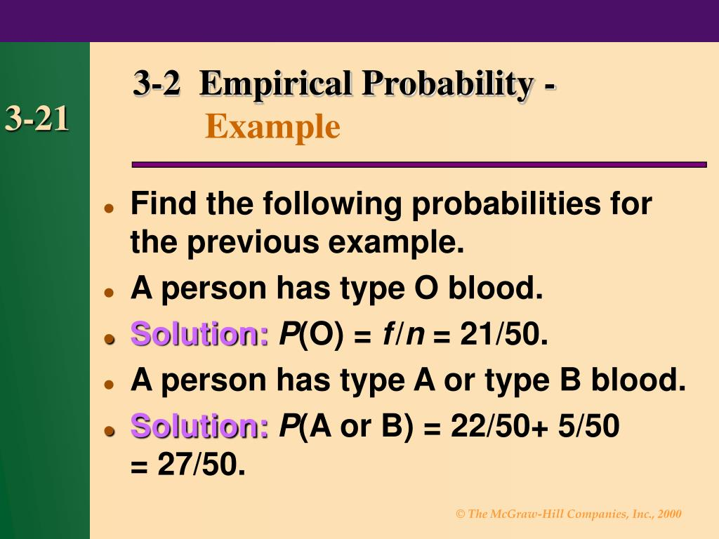 3-2  Empirical Probability -