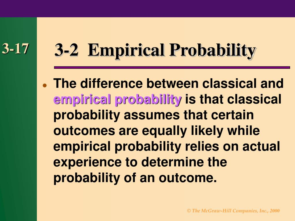 3-2  Empirical Probability
