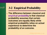 3 2 empirical probability