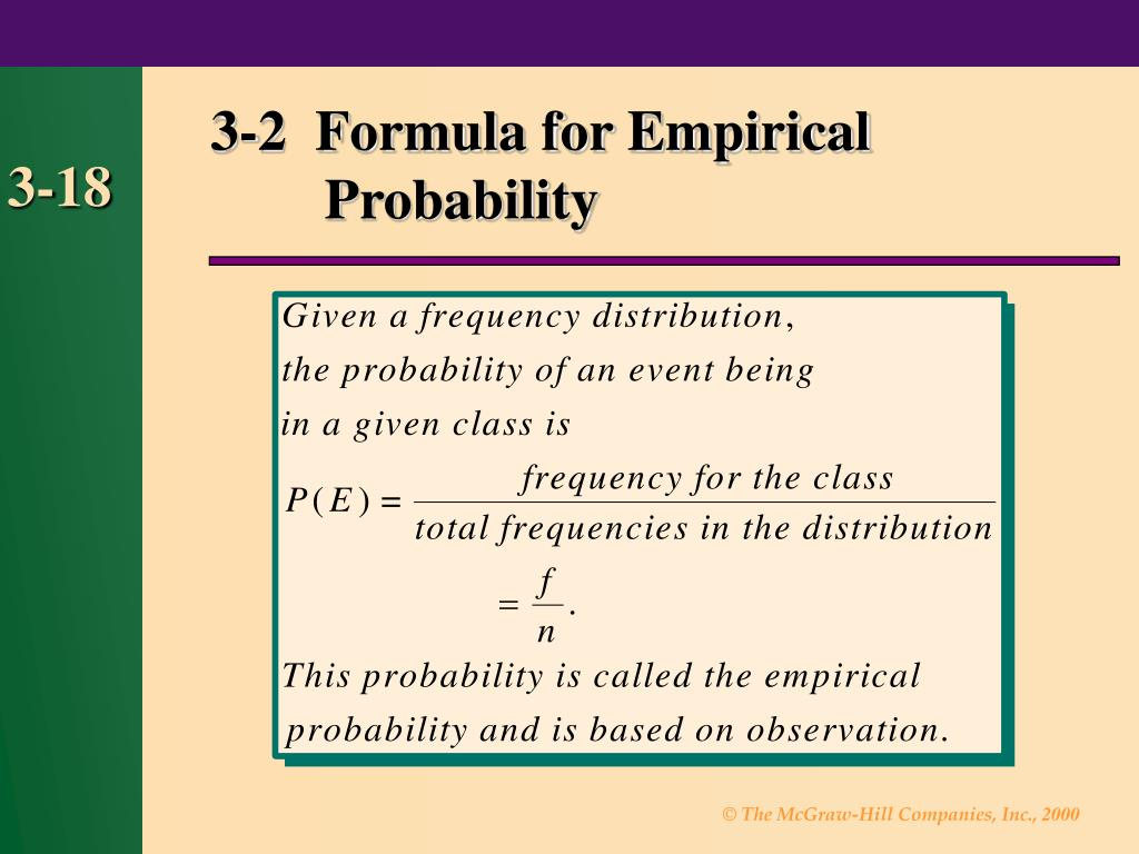3-2  Formula for Empirical Probability