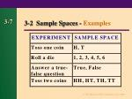 3 2 sample spaces examples