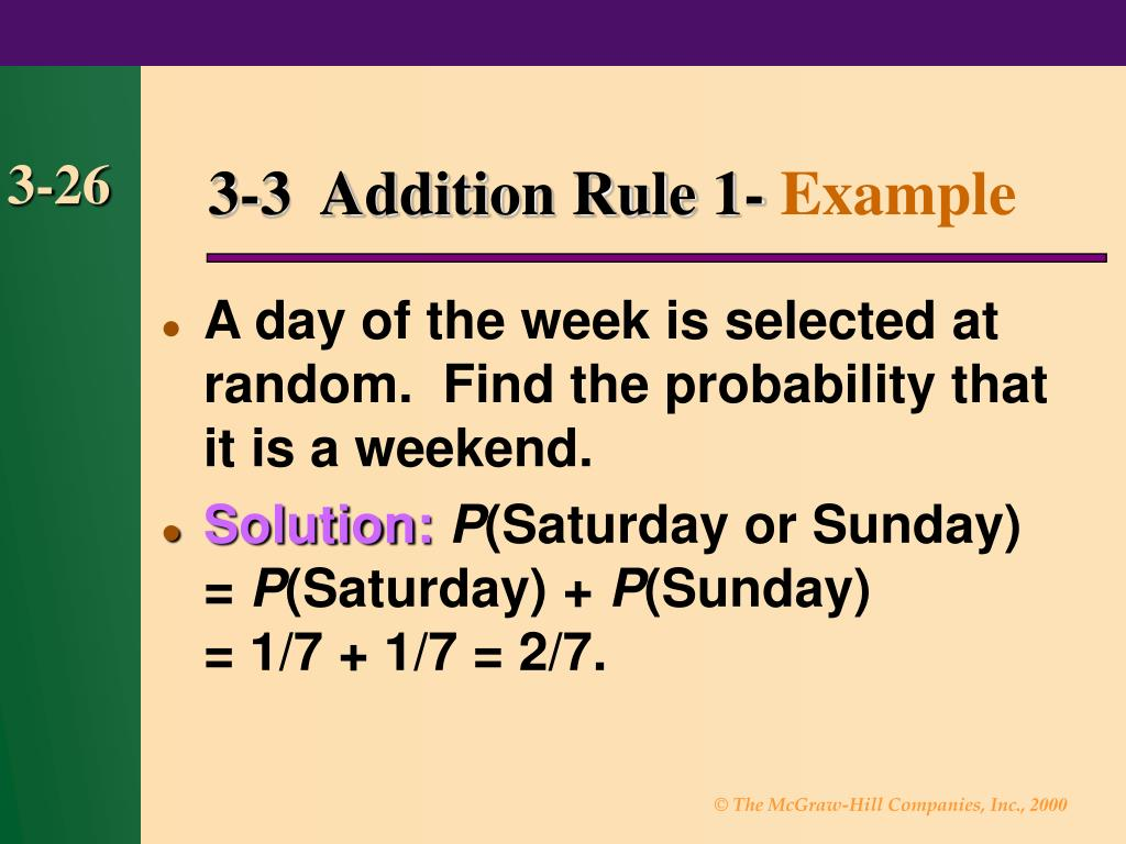 3-3  Addition Rule 1-