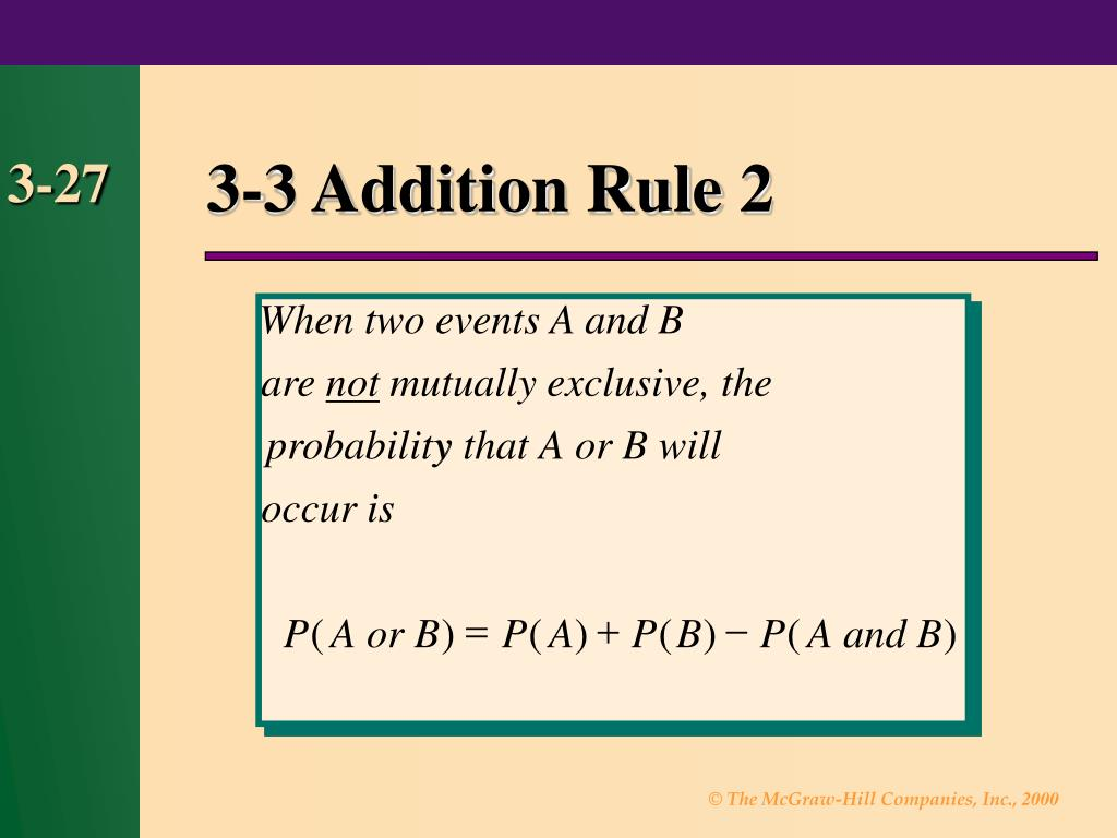 3-3 Addition Rule 2