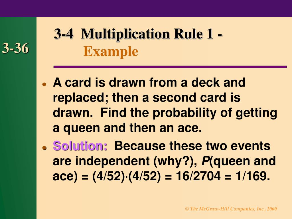 3-4  Multiplication Rule 1 -