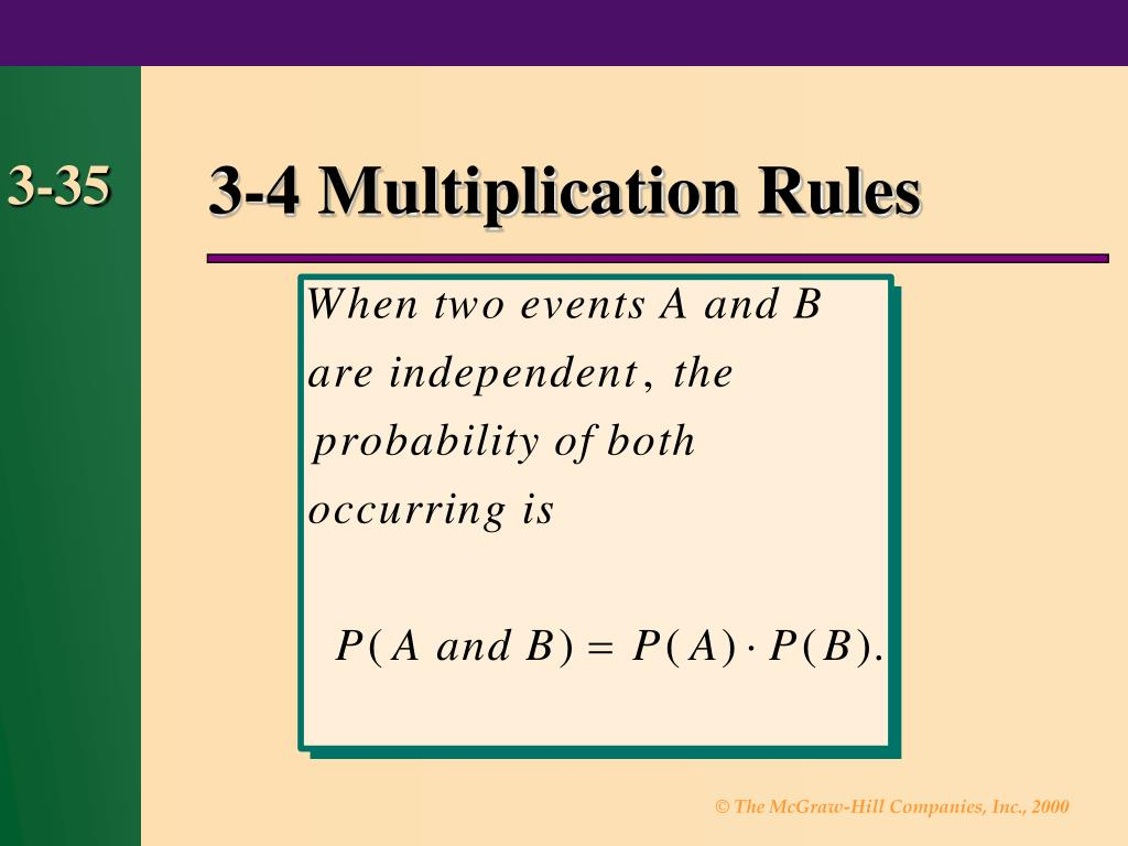 3-4 Multiplication Rules