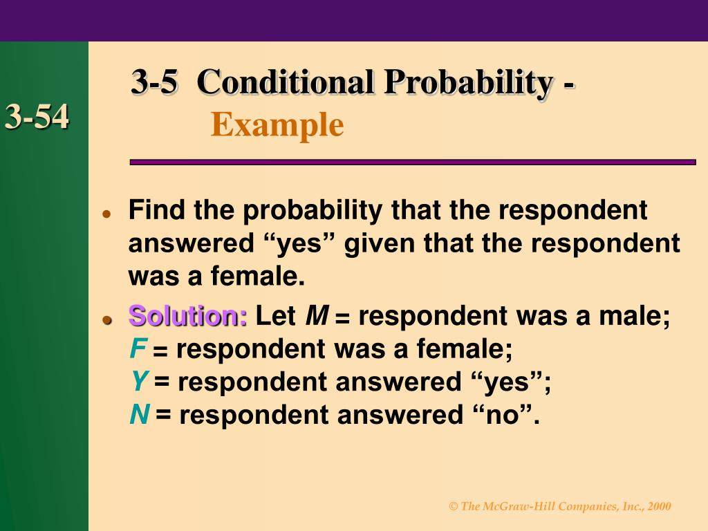 3-5  Conditional Probability -