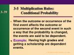 3 5 multiplication rules conditional probability