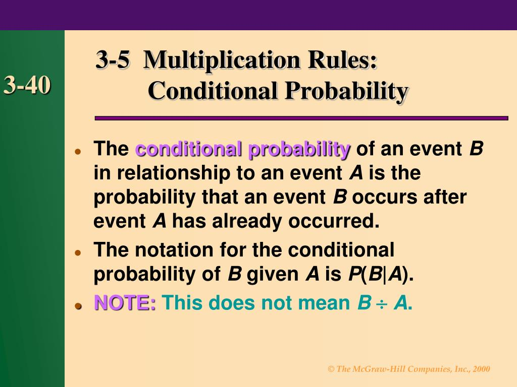 3-5  Multiplication Rules: