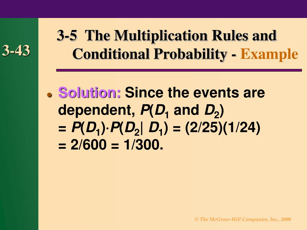 3-5  The Multiplication Rules and
