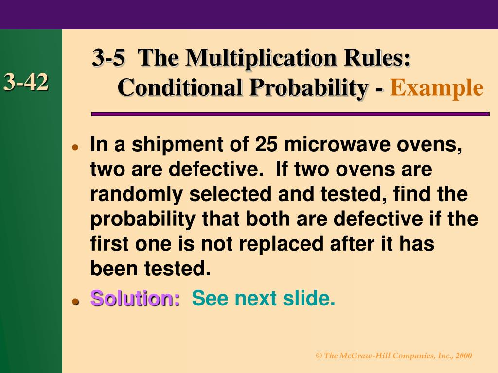 3-5  The Multiplication Rules: