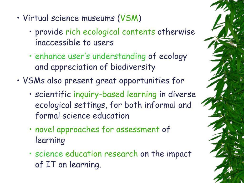 Virtual science museums (