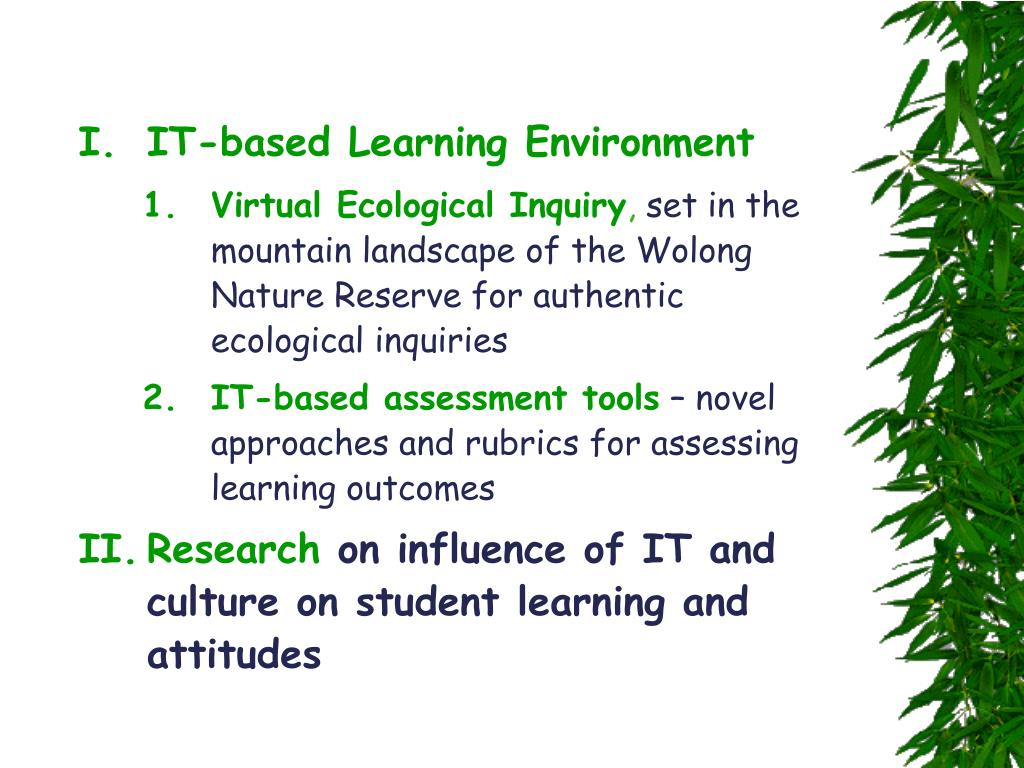 IT-based Learning Environment