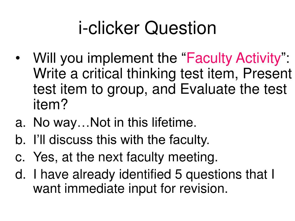 i-clicker Question