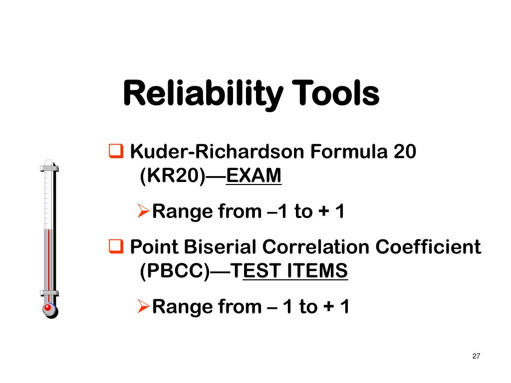 Reliability Tools