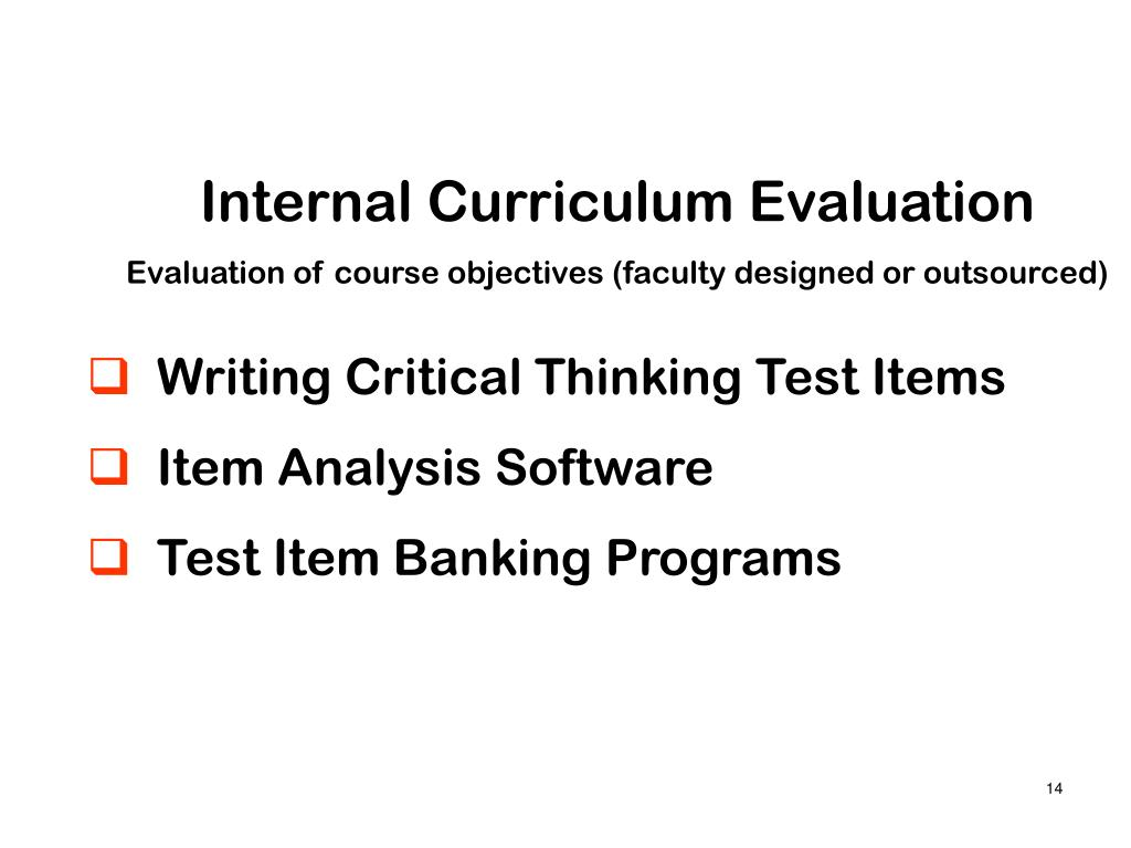 Internal Curriculum Evaluation