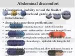 abdominal discomfort