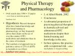 physical therapy and pharmacology