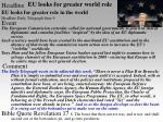 eu looks for greater world role