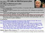 eu talks on mid east peace plan