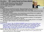eu warns israel on gaza attacks