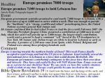 europe promises 7000 troops