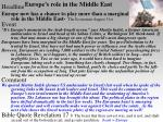 europe s role in the middle east