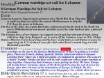 german warships set sail for lebanon