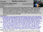 muslim cartoon row