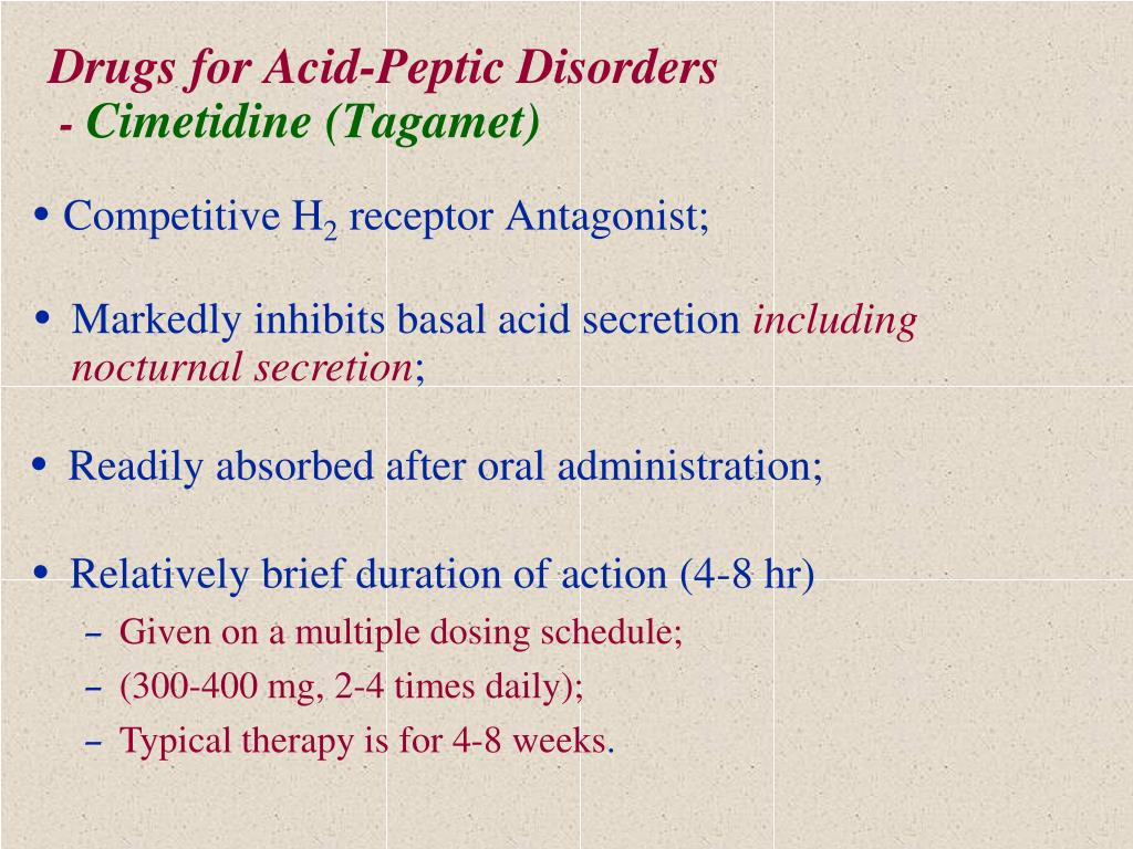 Drugs for Acid-Peptic Disorders