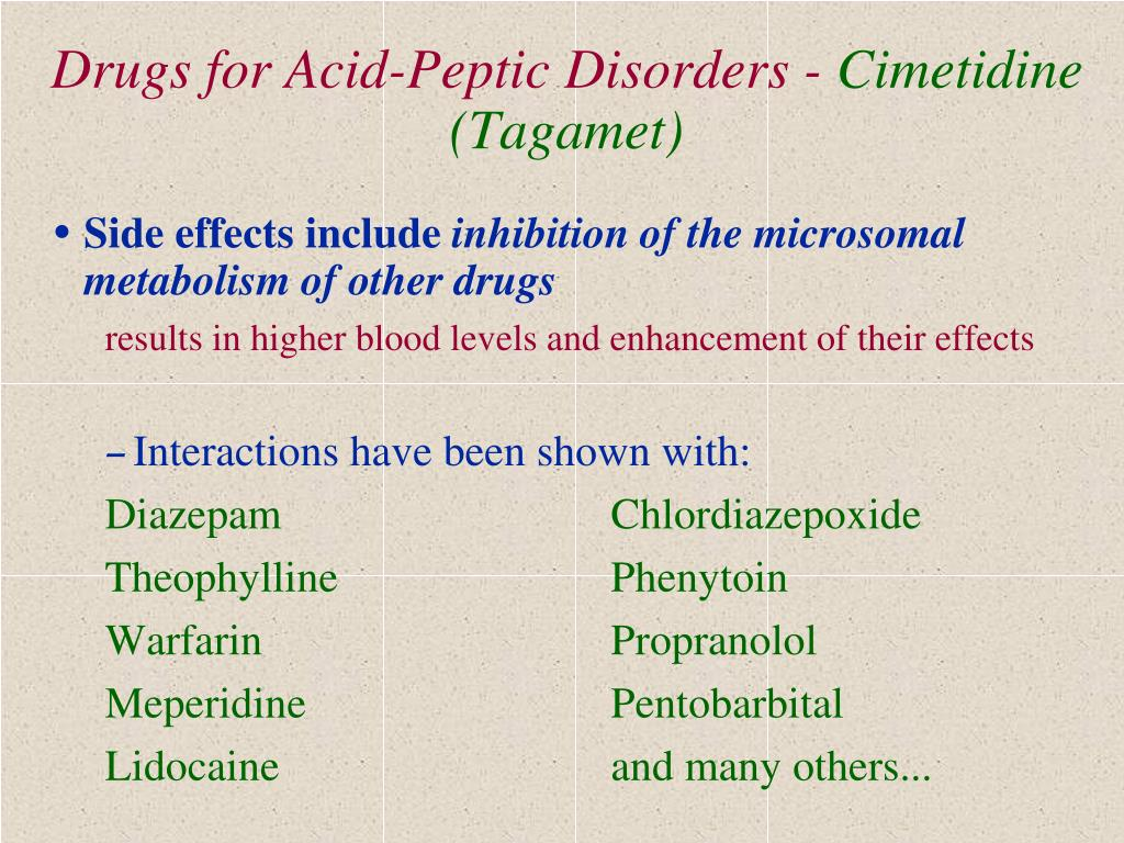 Drugs for Acid-Peptic Disorders -