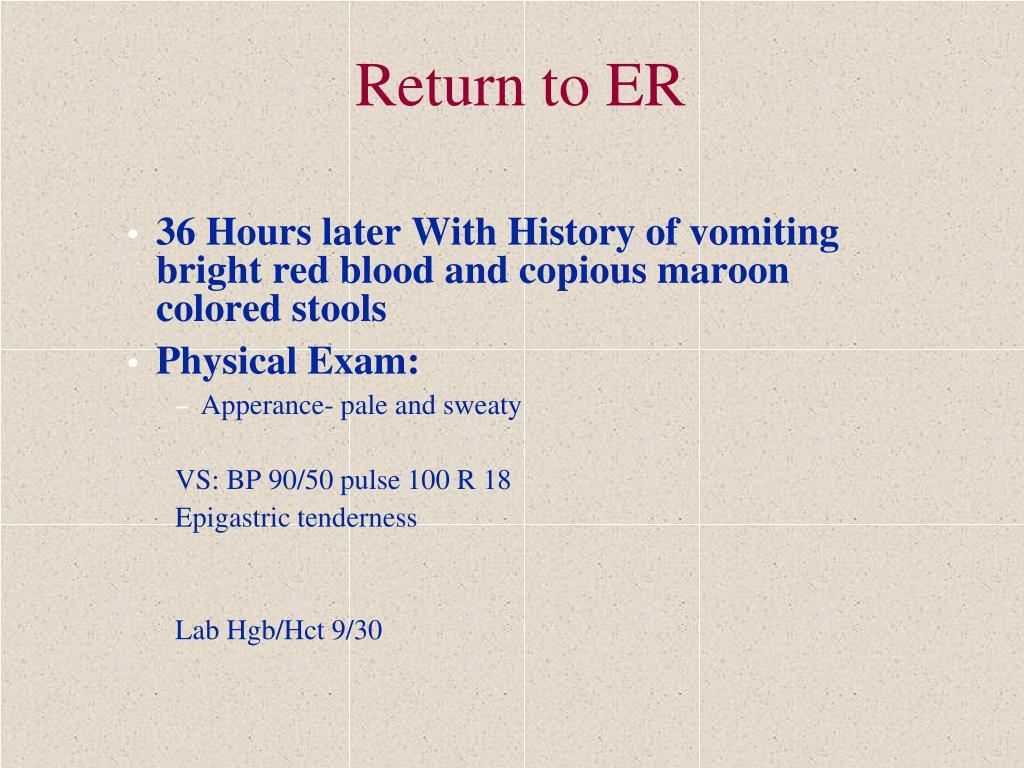 Return to ER