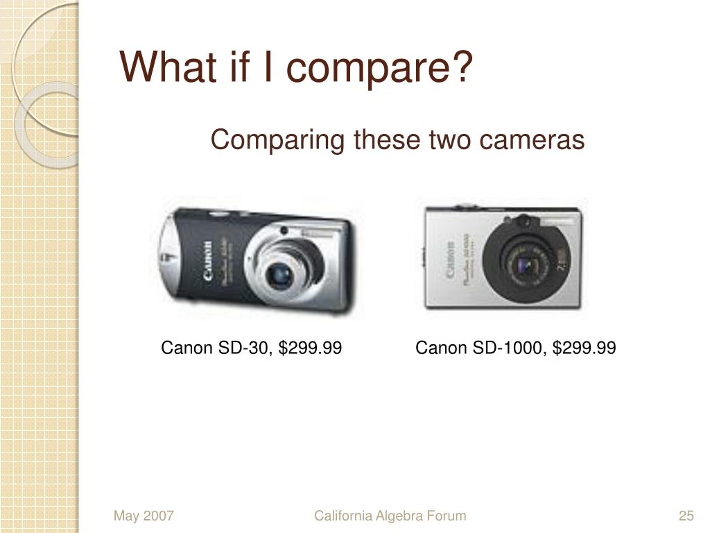 What if I compare?