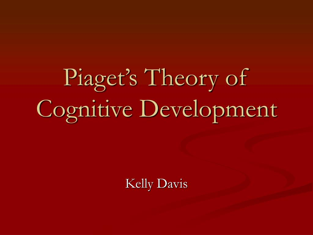 piaget theory of cognitive development pdf